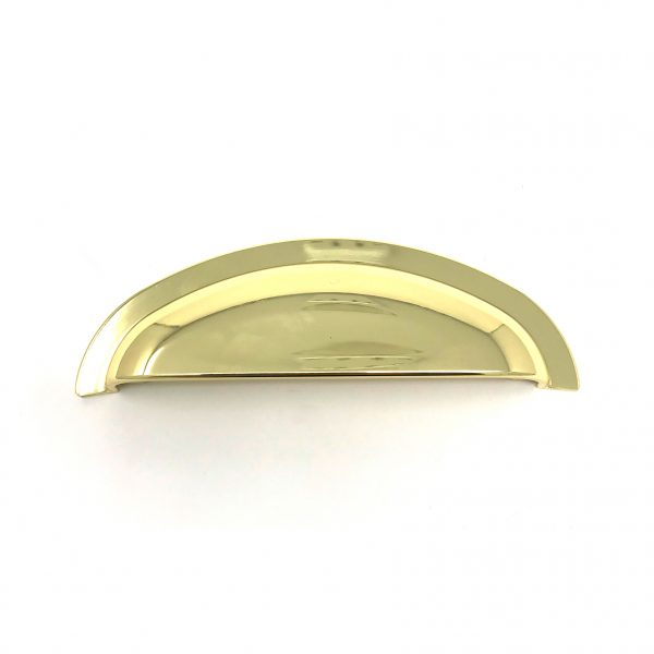 HA9126 96mm Bright Brass Cup Handle