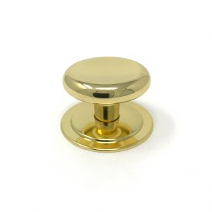 HA9132 38mm Bright Brass Knob with 46mm Backplate